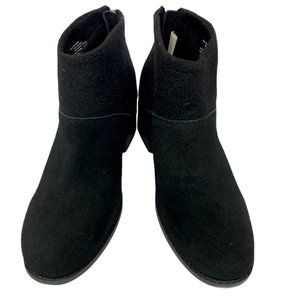 Toms Shoes - WOMEN TOMS LACY BLACK SUEDE FELT BOOTS SHOES USED